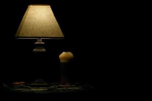 A lámpa fénye